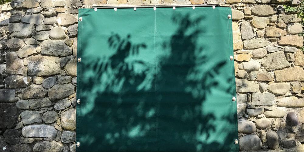 teli fatti su misura da esterno per coprire
