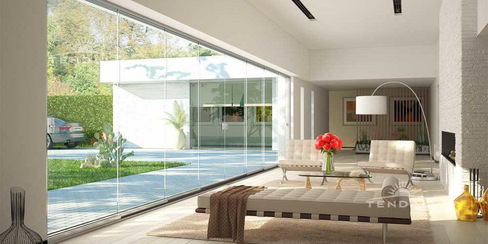 vetrate scorrevoli per la chiusura totale